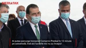 """Ludovic Orban, despre autostrada Comarnic - Brașov: """"Vreau ca peste 6 ani să spun că toate drumurile duc la Braşov"""""""