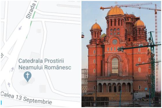"""Amenda primită de Google de la România din cauza denumirii """"Catedrala Prostirii Neamului"""" din Google Maps"""