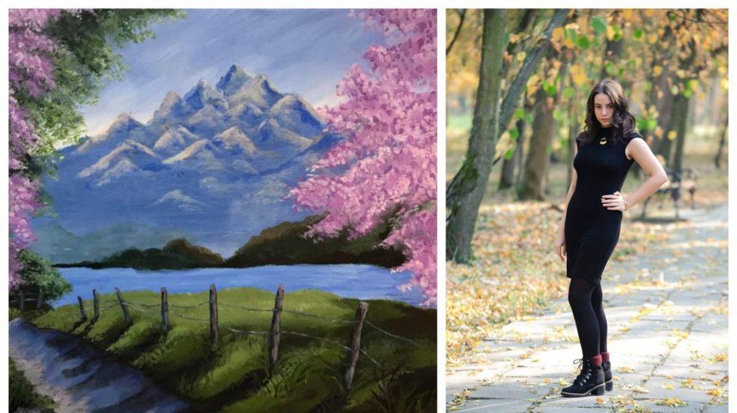 O adolescentă și-a vândut tablourile pictate în epidemie și a donat banii spitalelor. Ce sumă a strâns