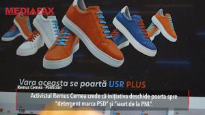"""Poți să îți cumperi pantofi în culorile USR-PLUS. Ești gata să achiziționezi """"detergent PSD"""" şi """"iaurt PNL""""?"""