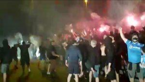 Fotbaliştii şi suporterii Universităţii Craiova au făcut show după meciul cu FCSB