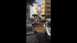 Momentul exact al exploziei catastrofale din portul Beirut. VIDEO