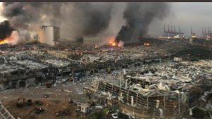 """Libanul își plânge morții începând de azi: 78 de decese și 4000 de răniți. """"Am fost martorii unei catastrofe imense"""" / Care ar fi cauza incendiului transformat în explozie"""