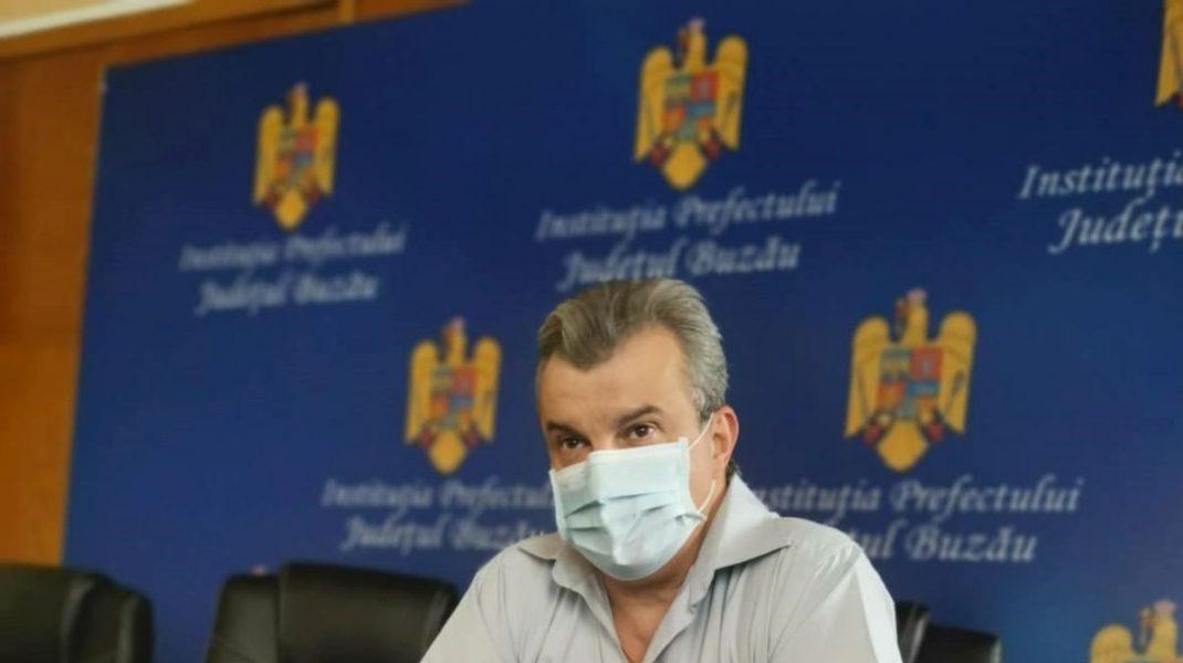 """Prefectul județului Buzău, testat pozitiv pentru COVID-19. """"Virusul nu iartă pe nimeni"""""""