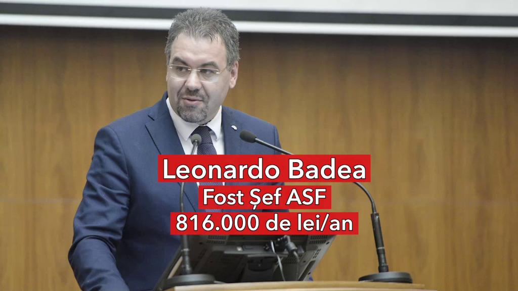 Salariu Leonardo Badea, fost șef ASF