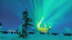 Uite imagini din spațiu cu Aurora Boreală VIDEO
