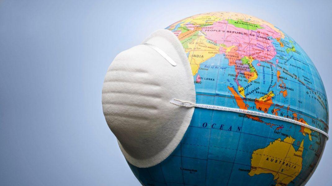 Glob pâmântesc acoperit cu mască