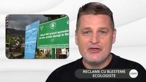"""Mesaje ecologiste cu iz de blestem în Sinaia: """"Când arunci un gunoi se naște un strigoi"""""""