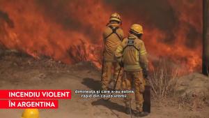 Incendiu uriaș în provincia Córdoba din Argentina. Oamenii au fost evacuați