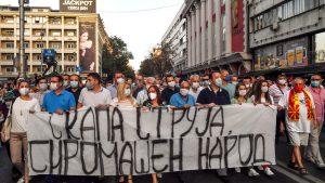 Mii de oameni au protestat în Macedonia. Ce îi nemulțumește pe manifestanți