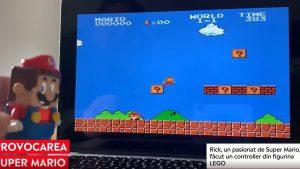 Un tânăr a făcut dintr-un LEGO cu Super Mario un adevărat controller pentru joc