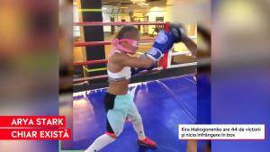 Kira, o fată de 11 ani, are 44 de victorii în box și nicio înfrângere. Se antrenează și legată la ochi