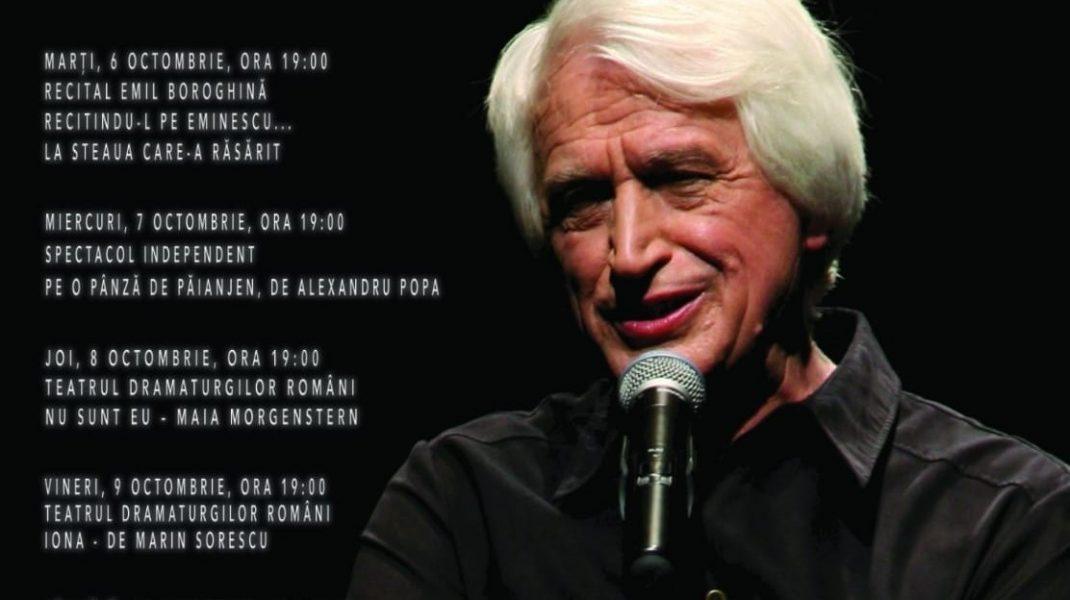 """Festivalul de Teatru """"Ștefan Iordache"""", de la Caracal, se desfășoară în perioada 6-11 octombrie. Ediție dedicată lui Emil Boroghină"""