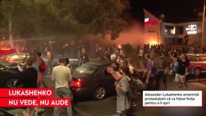 """Lukashenko amenință protestatarii că va folosi forța pentru a-i opri: """"Luați-vă copiii de pe străzi"""""""
