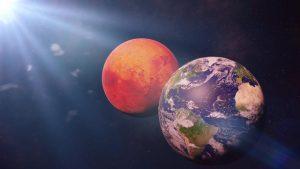 Marte se va apropia la doar 62 de milioane de kilometri de Pâmânt. Când poți vedea cu ochiul liber Planeta Roșie