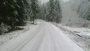 Prima deszăpezire din România. În ce județ au răspândit drumarii 24 de tone de sare GALERIE FOTO