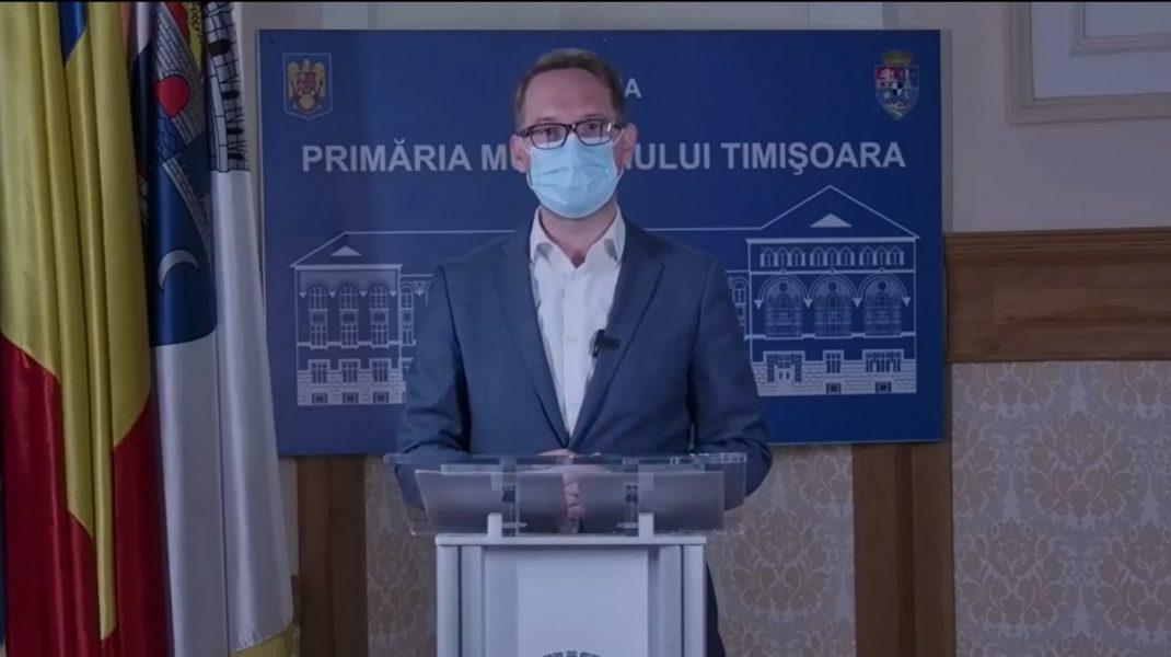 Dominic Fritz: Este inevitabilă carantinarea Timișoarei, care se apropie de 6 infectări la mie