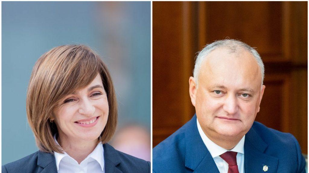 Alegeri prezidențiale în Republica Moldova. Basarabenii aleg între Maia Sandu și Igor Dodon în al doilea tur