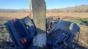 Mașină accident Tulcea