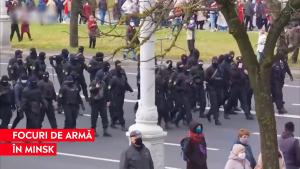 Protestatarii din Belarus, amenințați că se va trage în ei. 200 dintre manifestanți, bătuți și arestați
