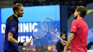Turneul Campionilor: Finala dintre Medvedev și Thiem se joacă azi de la ora 20:00