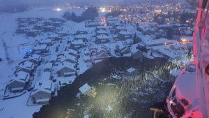 Alunecare de teren de proporții în Norvegia. Casele au fost înghițite de pământ. Sute de persoane au fost evacuate FOTO și VIDEO