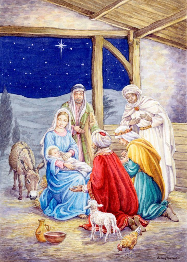 Cei trei magi la nașterea lui Iisus