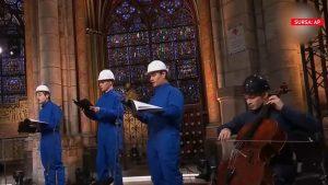 Concert inedit de Crăciun în Catedrala Notre Dame. Momentul emoționant din capitala Franței