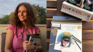 """Business pornit din pasiunea pentru colorat. Corina Dorobanțu, fondatoare: """"Foarte multe dintre cărți sunt în exclusivitate în România"""""""