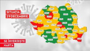"""Rata incidenței, din ce în ce mai scăzută, în România. Doar șase județe mai sunt """"roșii"""""""