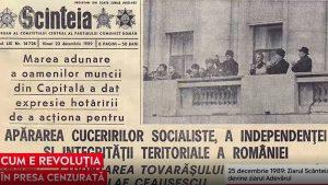 Revoluția, în presa cenzurată. Ce scriau ziarele în acea vreme