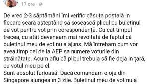 Alegeri parlamentare 2020. Reacția românilor la mailul AEP privind voturile pierdute sau anulate