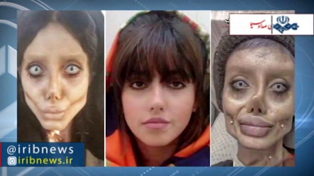"""Adolescenta iraniană poreclită """"zombie Angelina"""" a fost condamnată la 10 ani de închisoare. Acuzațiile care îi sunt aduse"""