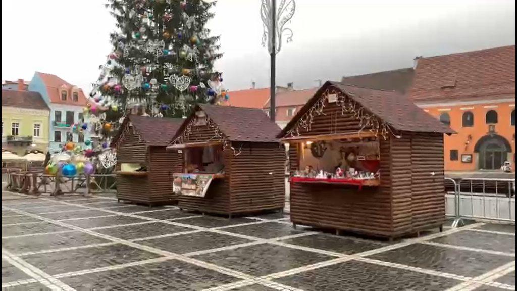 S-a deschis târgul de Crăciun din Brașov. Nu pentru distracție, ci mai degrabă pentru producătorii locali. VIDEO
