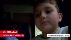 """Valentin Popa, un bucătar la 10 ani: """"De Crăciun eu aș vrea un aragaz ca să poată mami să îmi facă prăjituri"""""""