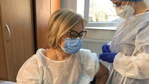 Carmen Dorobăț vaccinată