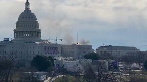 """Capitoliul intră din nou în lockdown, după """"o amenințare la adresa securității"""". Participanții la repetiția învestirii lui Biden, evacuați VIDEO"""
