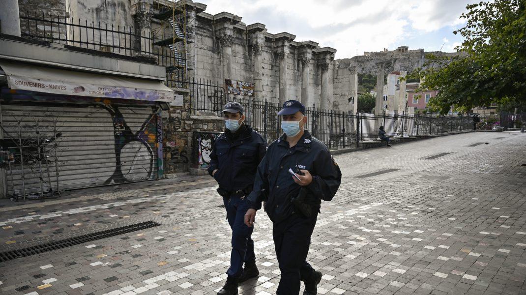Lockdown-în-centrul-Atenei