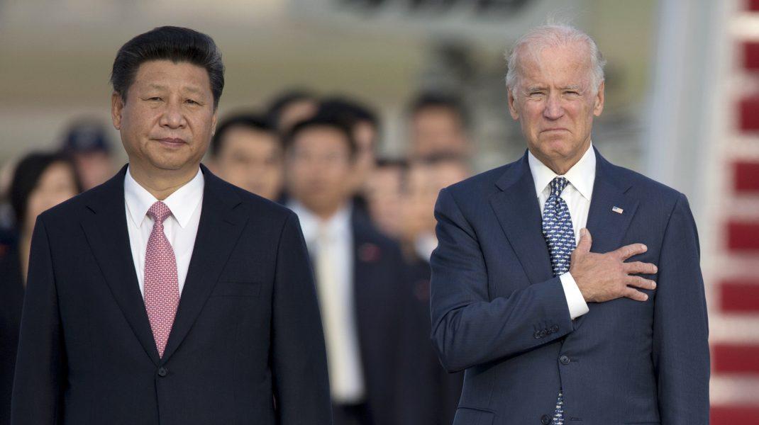 Xi Jinping și Joe Biden.