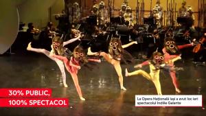 Primul spectacol de operă și balet din 2021, la Opera Națională Iași. Sala a funcționat la 30% din capacitate și au fost vândute toate biletele