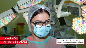 """Reacția unei infirmiere după decizia lui Cîțu de a îngheța salariile bugetarilor: """"Mă sperie gândul ăsta. Oricum nu avem salarii mari"""""""