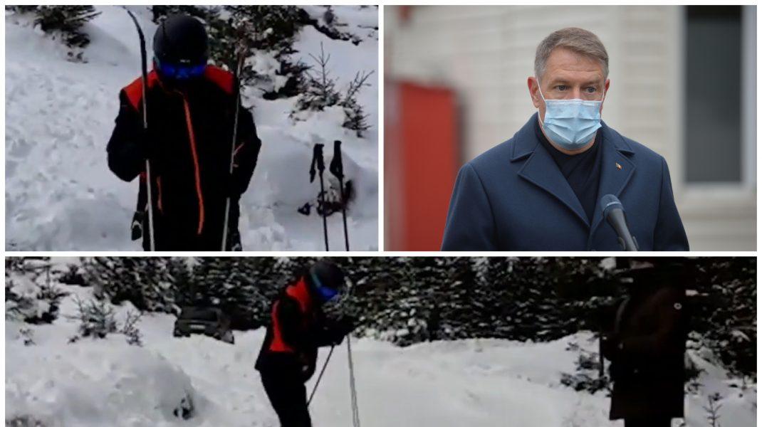 """Klaus Iohannis, surprins la schi la numai o zi după tragedia de la Matei Balș. """"Incredibil. Se relaxează și cei amărâți suferă în tăcere"""""""