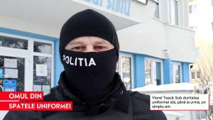 """Cine este polițistul care s-a jucat cu copiii în zăpadă, în Sibiu. """"Sub duritatea afișată de uniformă stă un simplu om"""""""