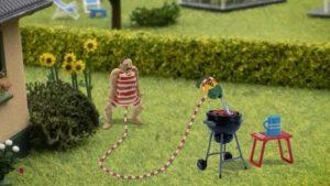 Un bărbat cu penis uriaș, personaj principal într-un serial de animație pentru copiii între 4 și 8 ani