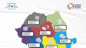 Cea mai mare tranșă de vaccin Pfizer ajunge luni în România. Vin peste 200.000 doze