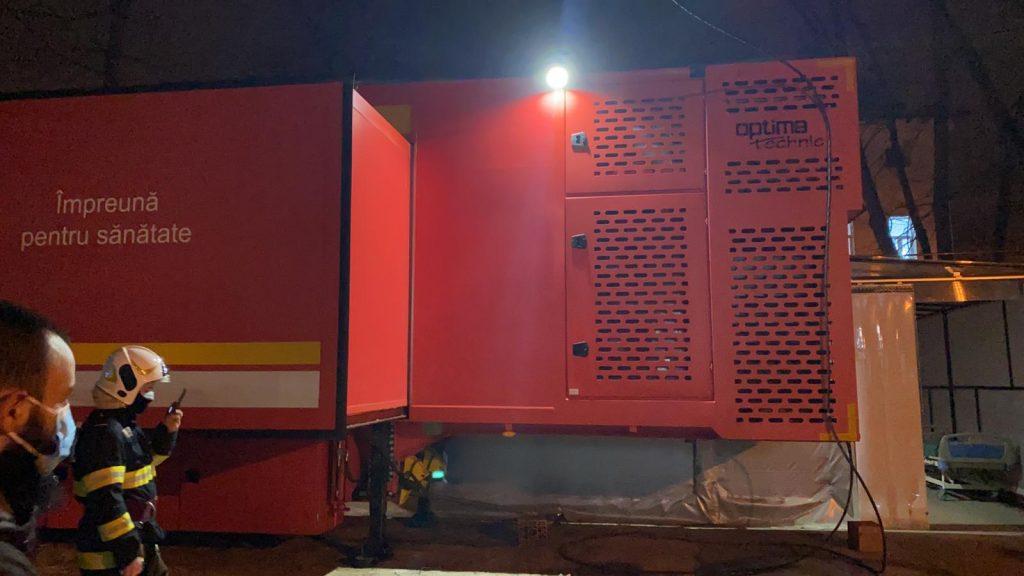 Incident la Marius Nasta. Opt mașini de pompieri au intervenit după ce a ieșit fum dintr-un ventilator al secției mobile ATI