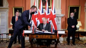 Acord post-Brexit, Boris Johnson