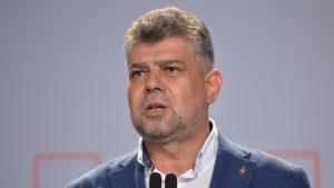 marcel ciolacu incruntat intr-o declaratie de presa.