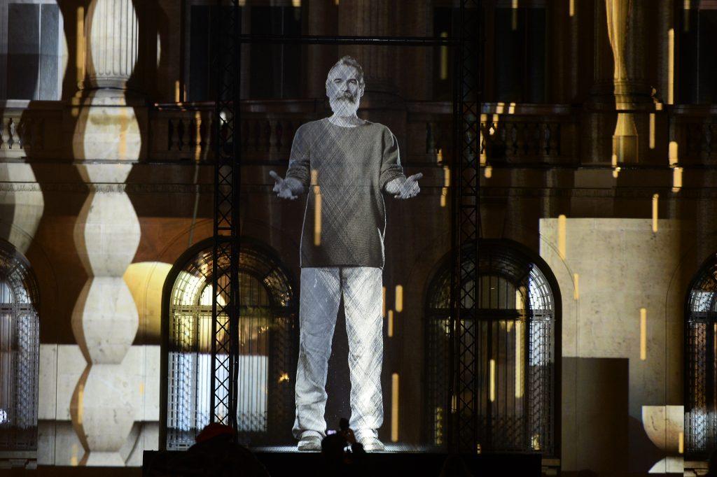 Hologramă a lui Constantin Brâncuși