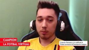 """Un român a ajuns printre cei mai buni jucători de FIFA din lume. """"Sunt zile în care mă joc și 10-12 ore"""""""